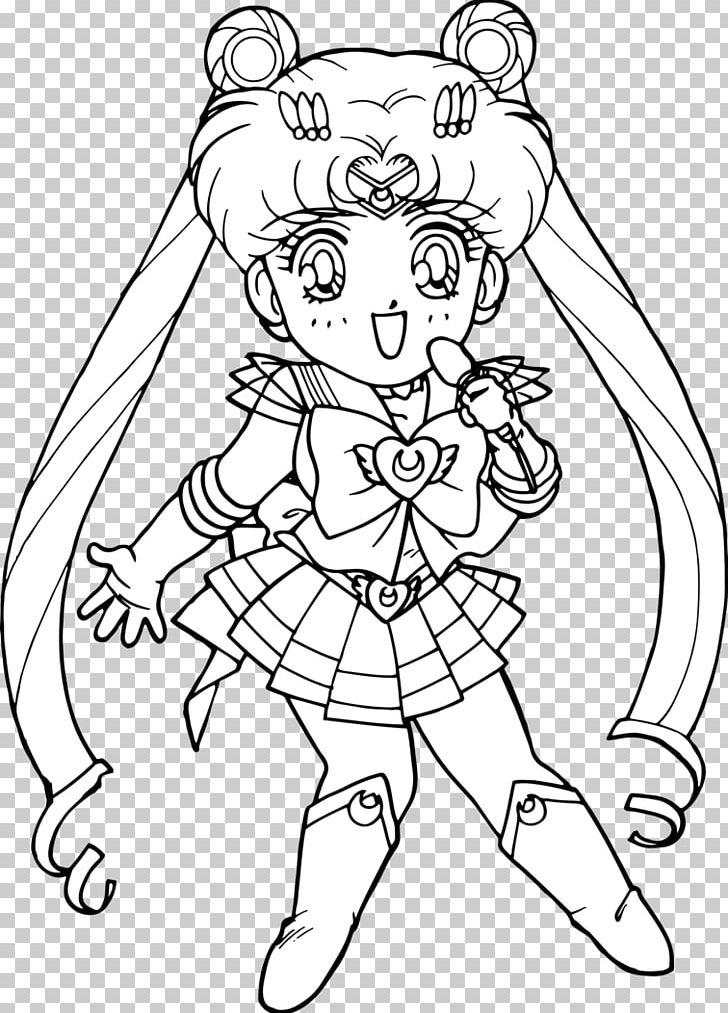 Chibiusa Sailor Moon Coloring Book Black And White Png