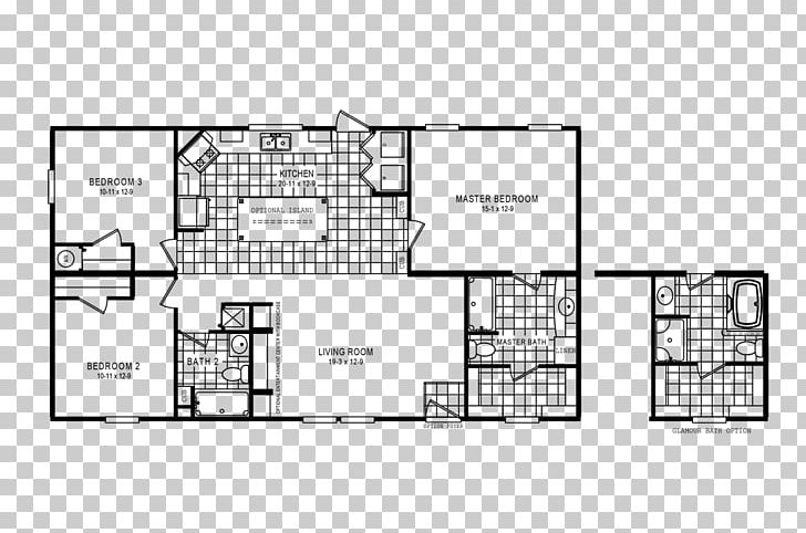 Floor Plan Oakwood Homes House Png Clipart Angle Area Bathroom Bedroom Black And White Free Png