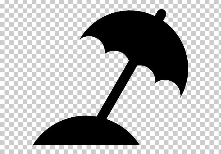 Beach Silhouette Umbrella PNG, Clipart, Beach, Black, Black And White, Computer Icons, Encapsulated Postscript Free PNG Download
