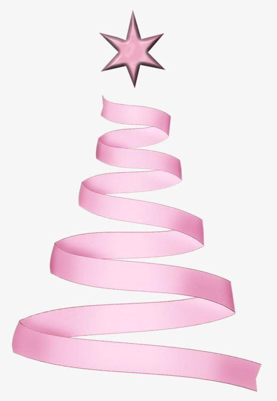 Pink Ribbon Christmas Tree PNG, Clipart, Beautiful ...