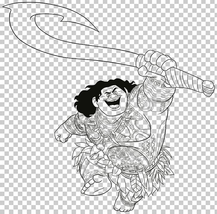 Moana coloring page. Book colouring pages the