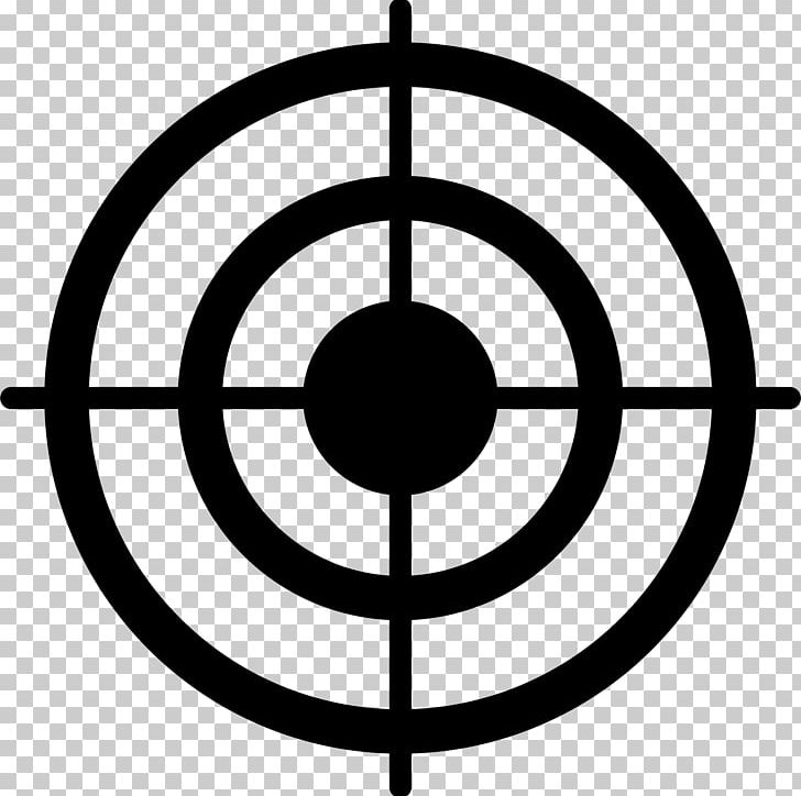 Bullseye Shooting Target PNG, Clipart, Area, Black And White, Bullseye, Circle, Computer Icons Free PNG Download