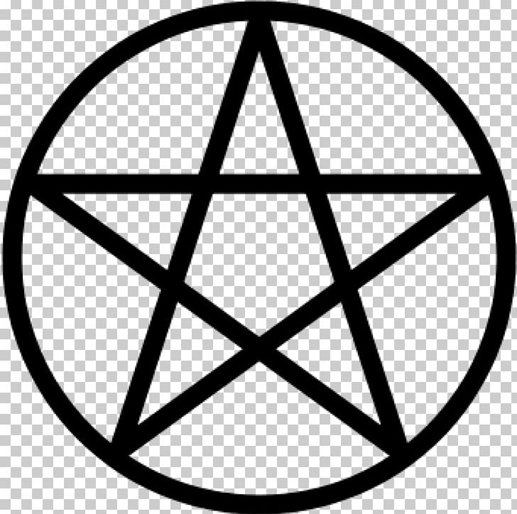Pentagram Pentacle Wicca Witchcraft Modern Paganism PNG, Clipart, Angle, Area, Black And White, Circle, Earth Free PNG Download