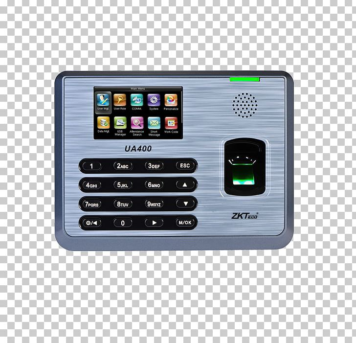 Time And Attendance Zkteco Fingerprint Access Control Computer PNG