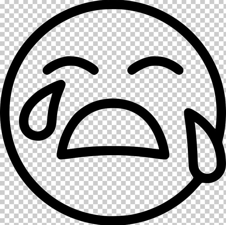 Emoticon Computer Icons Smiley Face With Tears Of Joy Emoji PNG, Clipart, Area, Black And White, Computer Icons, Crying, Crying Emoji Free PNG Download