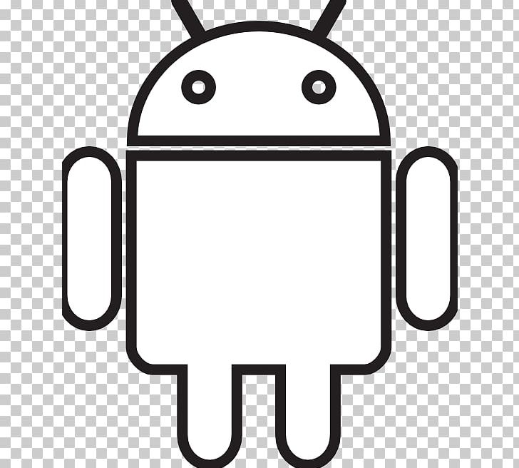 Black And White Line Art Droid PNG, Clipart, Android, Area, Black