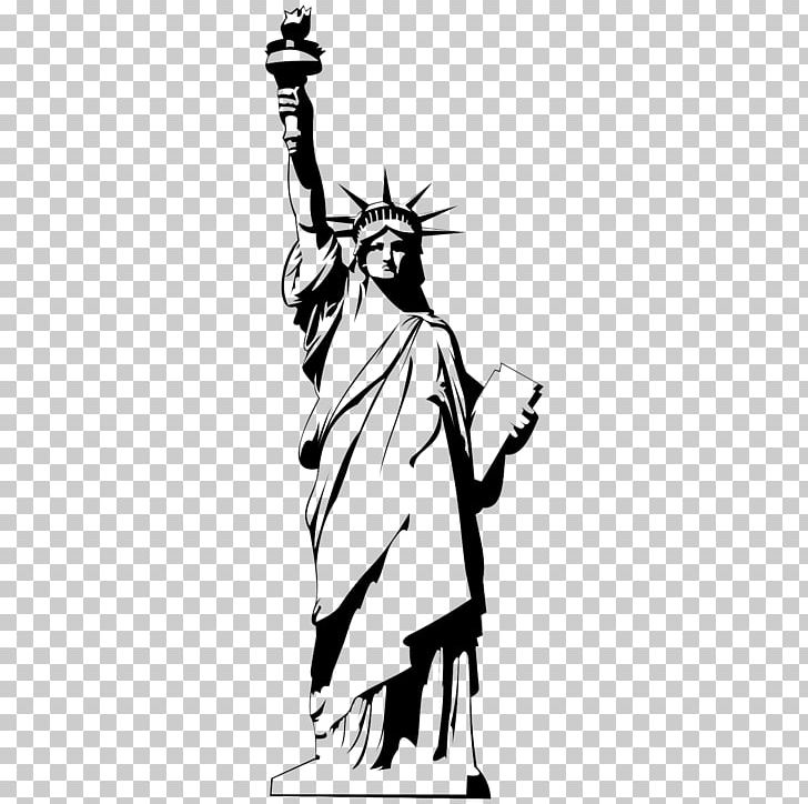 Statue Of Liberty Drawing PNG, Clipart, Art, Black And White, Cartoon, Computer Wallpaper, Draw Free PNG Download