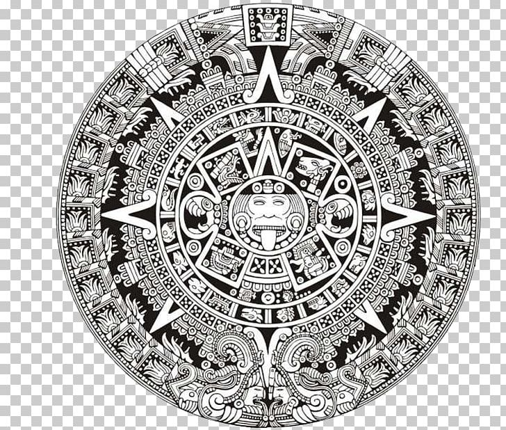 Aztec Calendar Stone.Aztec Empire Maya Civilization Aztec Calendar Stone Mayan Calendar