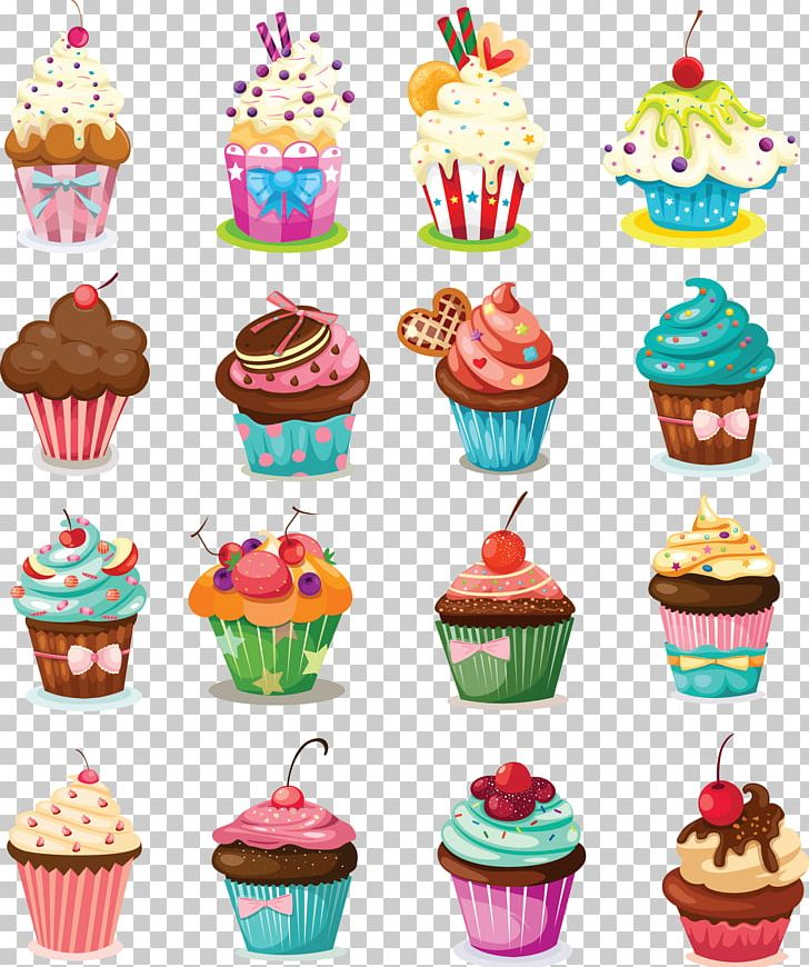 Cupcake Birthday Cake Icing Muffin Cartoon PNG Clipart Baking Photos Buttercream Decorating