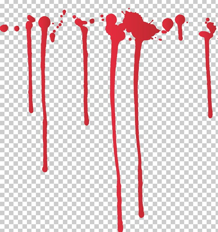 Blood splatter red ink. Paint film png clipart