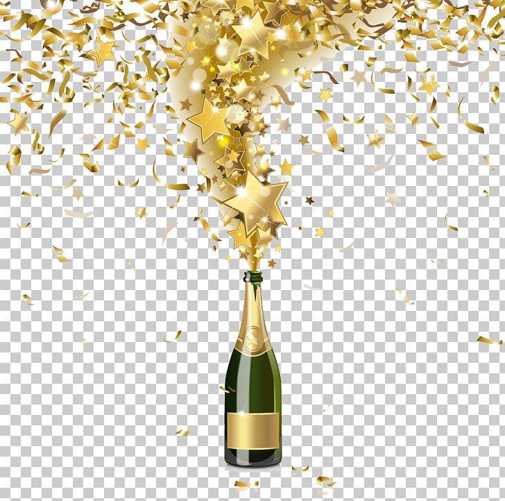Champagne Bottle Confetti Illustration PNG, Clipart, Alcoholic Drink, Celebrate, Celebration, Celebrations, Champagne Glass Free PNG Download