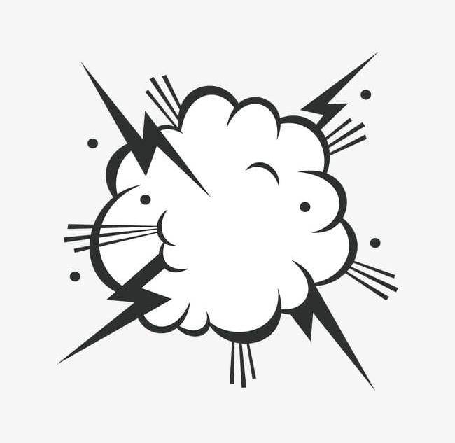Smoke explosion. Png clipart box bubble