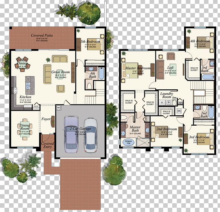 Floor Plan Delray Beach House Plan