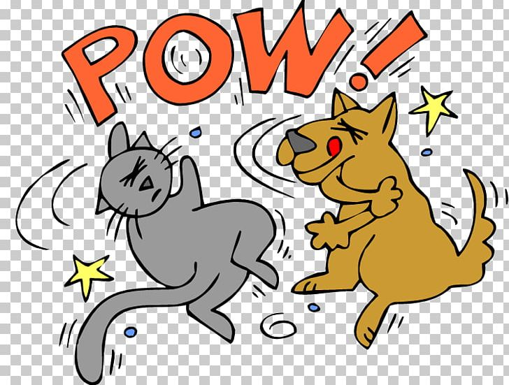 Dog–cat Relationship Dog–cat Relationship Dog Fighting PNG, Clipart, Animal Figure, Animals, Area, Art, Artwork Free PNG Download
