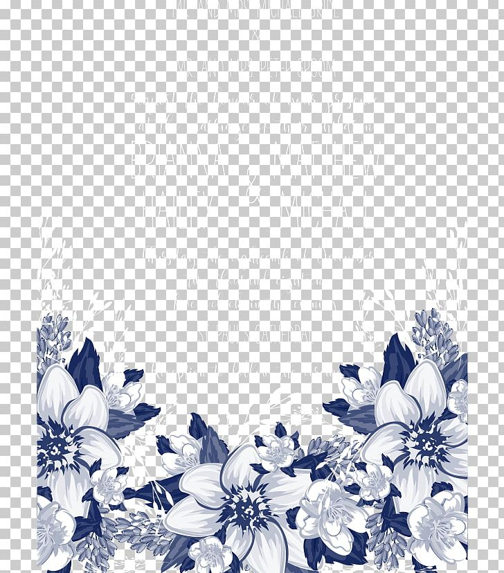 Blue Petal Black And White Pattern PNG, Clipart, Blue, Blue Flower, Blue Flowers, Color, Design Free PNG Download