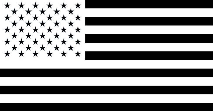 American flag black. Of the united states