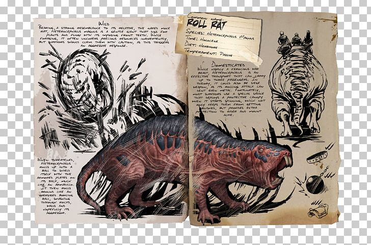 ARK: Survival Evolved Rat Dinosaur Tame Animal Doedicurus