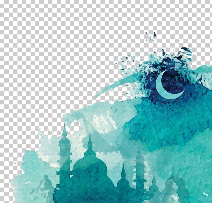 Ramadan Watercolor Painting Drawing Islam PNG, Clipart, Aqua, Art, Blue, Color, Computer Wallpaper Free PNG Download