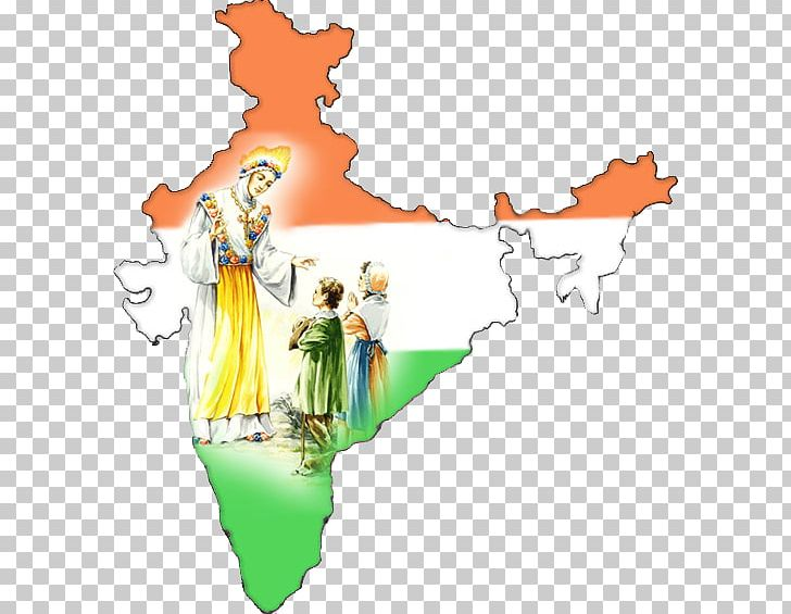 Indian Independence Movement Flag Of India Map Outline Of
