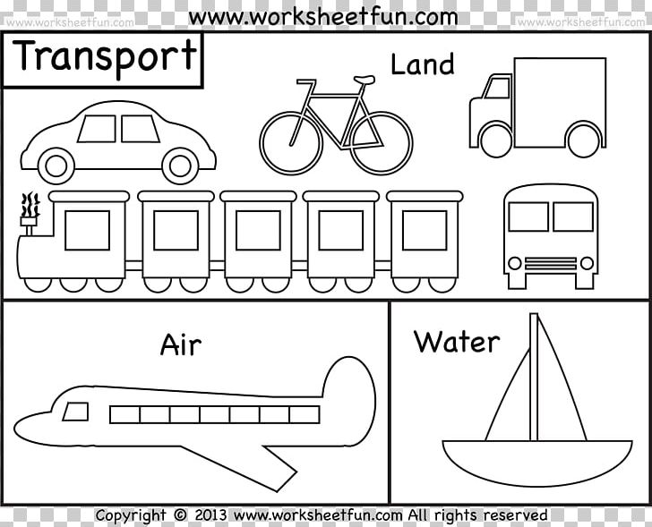 Coloring Book Colouring Pages Water Transportation Train Png Clipart Angle Area Artwork Auto Part Black And