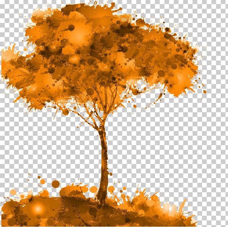 Tree Watercolor Painting Illustration PNG, Clipart, Autumn, Branch, Computer Wallpaper, Creativity, Defoliation Free PNG Download