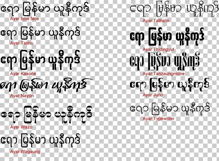 Burma Zawgyi Font Handwriting Web Typography Open-source