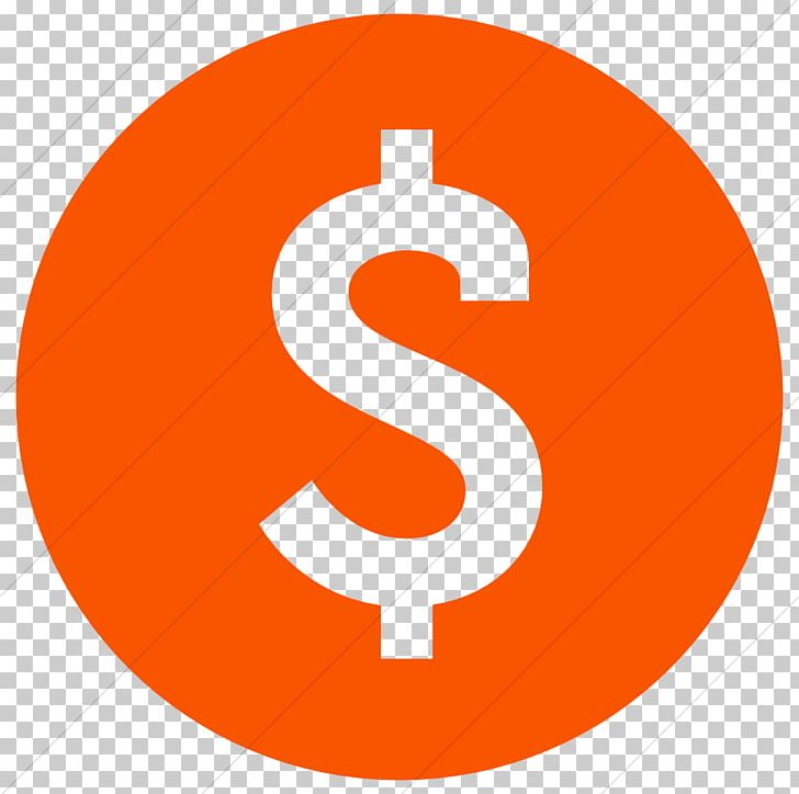 Dollar sign orange. Computer icons currency symbol
