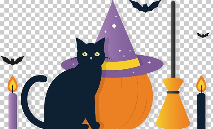Black Cat Halloween Png Clipart Carnivoran Cartoon Cat Like Mammal Design Desktop Wallpaper Free Png Download