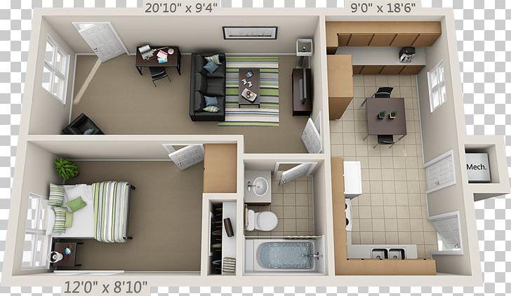 Floor Plan Studio Apartment PNG