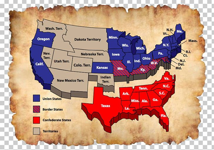 Southern United States American Civil War Confederate States ...