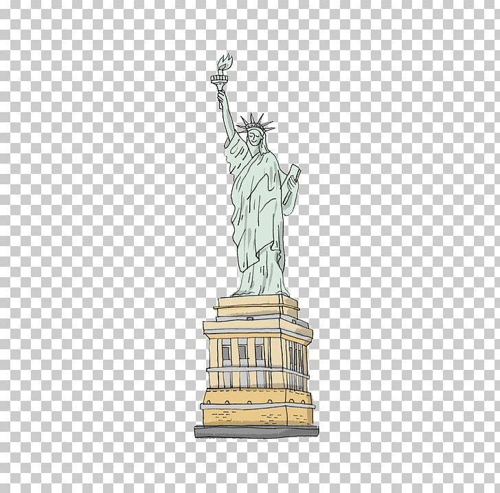 Statue Of Liberty Cartoon Drawing PNG, Clipart, Buddha Statue, Building, Cartoon, Drawing, Hand Free PNG Download