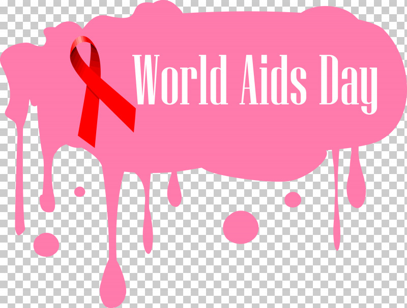 World Aids Day PNG, Clipart, Heart, Logo, Magenta, Pink, Text Free PNG Download