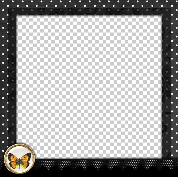 Borders And Frames Frame Polka Dot Png Clipart Black And White
