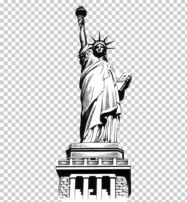 Statue Of Liberty Eiffel Tower Lion Of Belfort Drawing PNG, Clipart, Art, Artwork, Black And White, Caricature, Drawing Free PNG Download