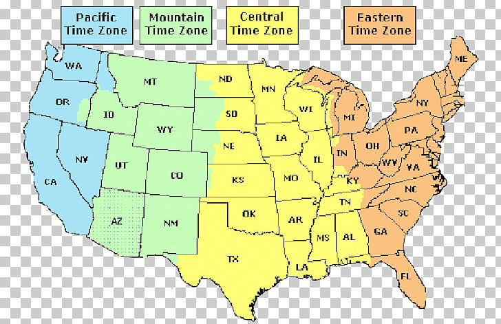 Time Zone Florida Map U.S. State Cartography PNG, Clipart ...