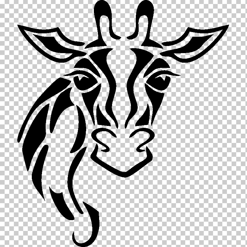 Head Stencil Black-and-white Horn Automotive Decal PNG, Clipart, Automotive Decal, Blackandwhite, Head, Horn, Snout Free PNG Download