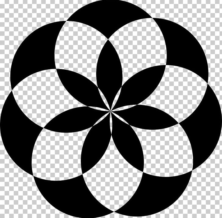 Geometric Shape Flower Circle PNG, Clipart, Abstract, Art, Black, Black And White, Circle Free PNG Download