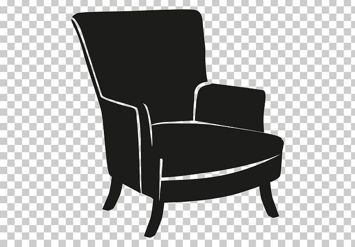 Wing Chair Furniture Couch PNG, Clipart, Angle, Armrest, Black, Black And White, Chair Free PNG Download