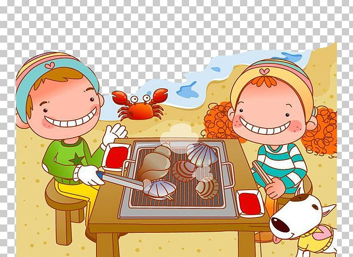 Barbecue Cartoon Picnic Illustration PNG, Clipart, Art, Beach, Beach On Vacation, Beach Party, Beach Sand Free PNG Download