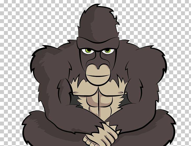 Gorilla Homo Sapiens Cartoon Carnivora PNG, Clipart, Animals, Carnivora, Carnivoran, Cartoon, Fictional Character Free PNG Download