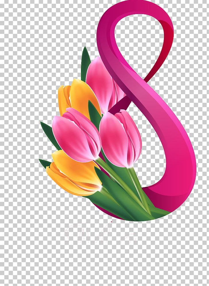 March 8 International Women's Day Greeting & Note Cards Stock Photography PNG, Clipart, Cut Flowers, Digital, Digital 8, Floral Design, Floristry Free PNG Download
