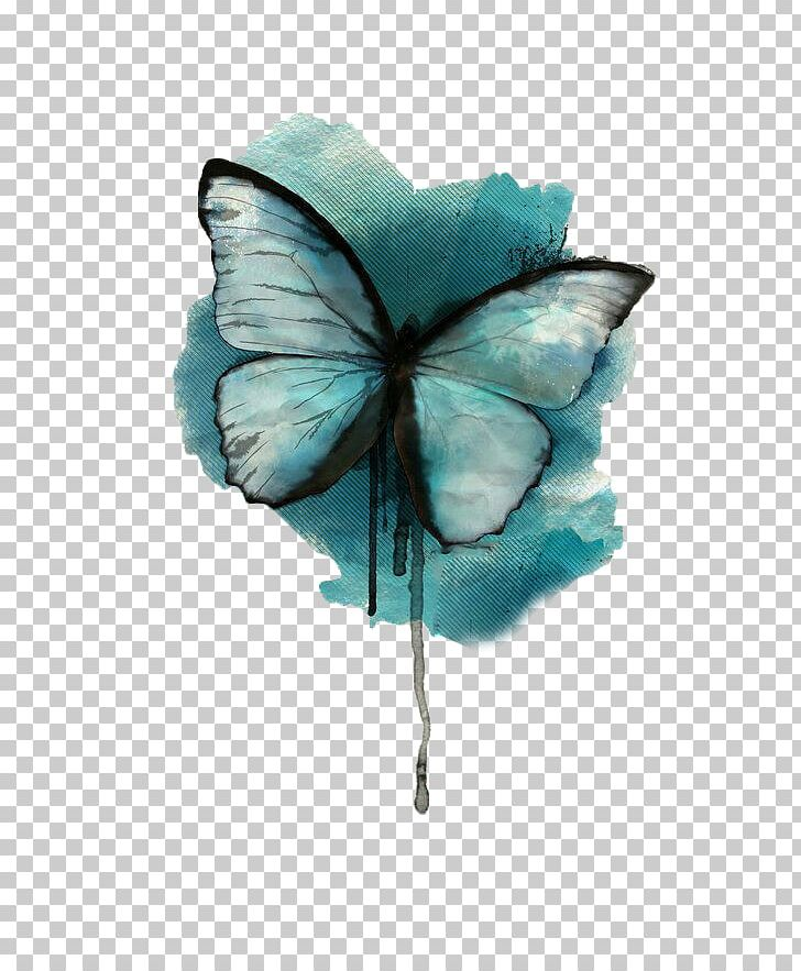 Butterfly Watercolor Painting Tattoo Drawing Png Clipart
