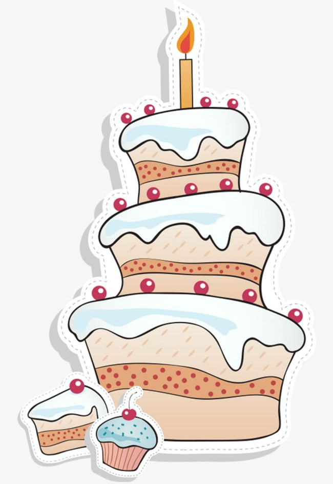 Cartoon Birthday Cake Stock PNG Clipart Free Download