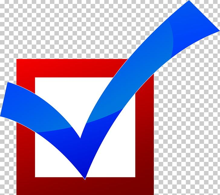 Check Mark Checkbox Computer Icons PNG, Clipart, Angle, Area, Blog, Blue, Brand Free PNG Download