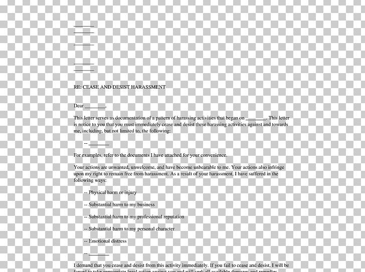 Cease And Desist Letter Harassment Example from cdn.imgbin.com