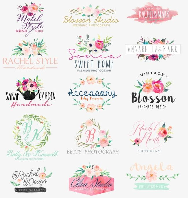 Hand-painted Flower Icon Logo PNG, Clipart, Abstract, Backgrounds, Bouquet, Calligraphy, Celebration Free PNG Download