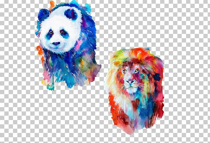Watercolor Painting Art Lion Illustration PNG, Clipart, Animal, Artist, Canvas, Cat, Colorful Free PNG Download
