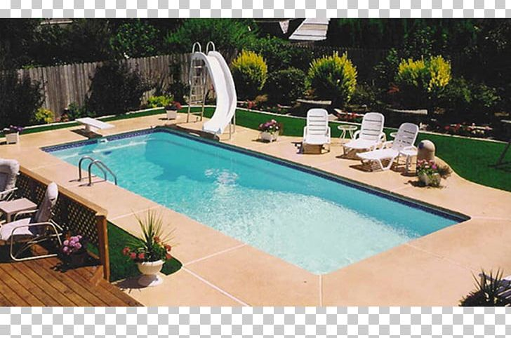 Swimming Pool Hot Tub Diving Boards Playground Slide Backyard PNG ...