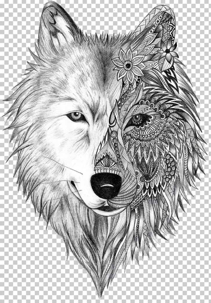 Tattoo Artist Gray Wolf Sleeve Tattoo PNG, Clipart, Beauty, Blackandgray, Black And White, Body Art, Carnivoran Free PNG Download