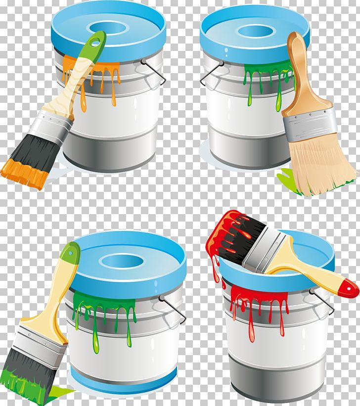 Paint Roller Brush PNG, Clipart, Brush, Bucket Vector, Color